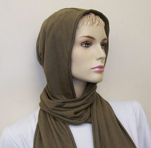 RF / EMI Shielding Garments & Clothing - Silverell Brown Hooded Scarf