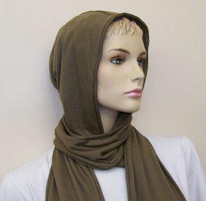 RF / EMI Shielding Garments & Clothing - Silverell Brown Hooded Scarf